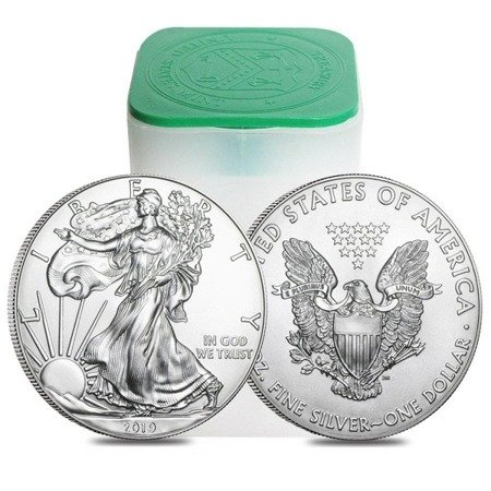 Zestaw Srebrna Moneta Amerykański Orzeł 20x1oz