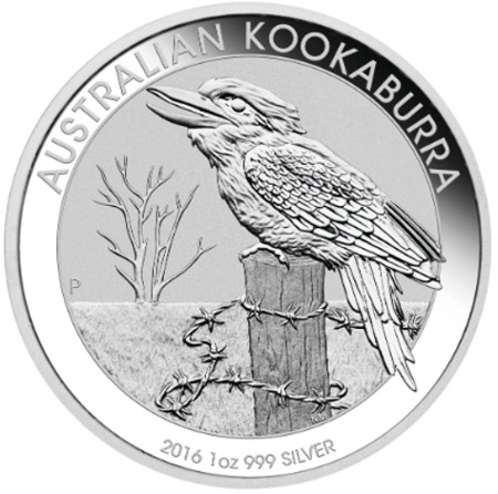 Srebrna Moneta Australijska Kookaburra 1 uncja 2016r 24h