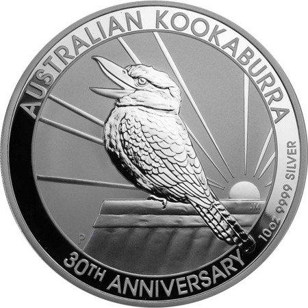 Srebrna Moneta Australijska Kookaburra 10 uncji 24h