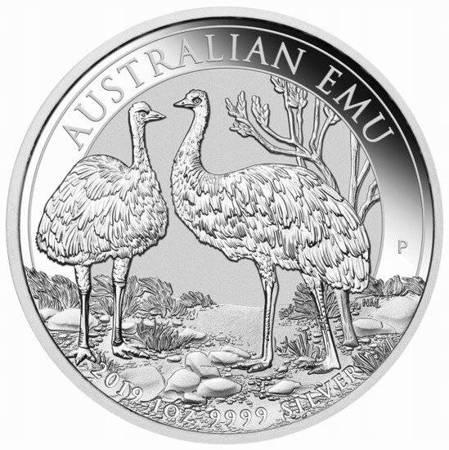 Srebrna Moneta Australijski Emu 1 uncja 2019r 24h