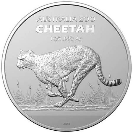 Srebrna Moneta Australijskie Zoo: Gepard 1 uncja 24h