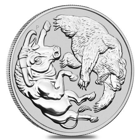Srebrna Moneta Byk i Niedźwiedź 1000g (1kg) 24h