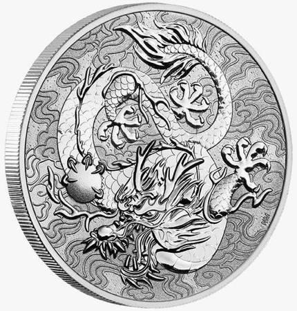 Srebrna Moneta Chińskie Mity i Legendy - Smok 1 uncja 24h