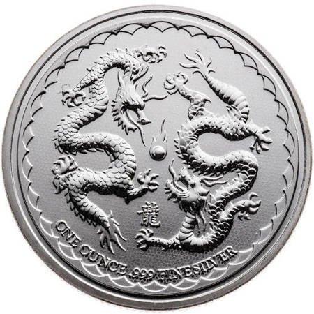Srebrna Moneta Dragons - Niue 1 uncja 2018r 24h