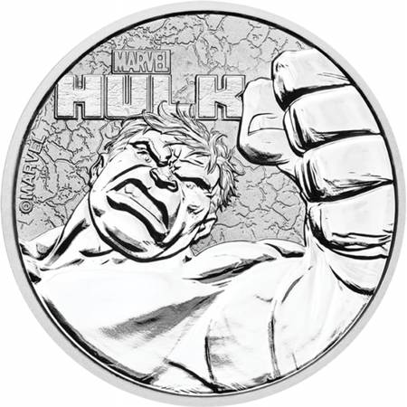 Srebrna Moneta Hulk - Marvel Series 1 uncja 24h