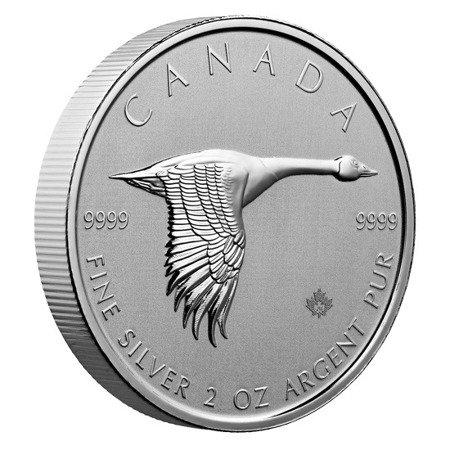 Srebrna Moneta Kanadyjska Gęś 2 uncje 24h