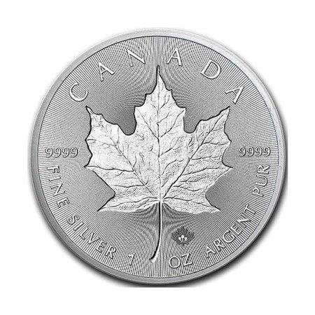 Srebrna Moneta Kanadyjski Liść Klonowy Incuse 1 uncja 24h