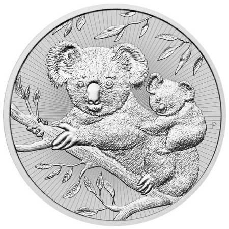 Srebrna Moneta Koala Matka i Dziecko 2 uncje LIMITOWANA