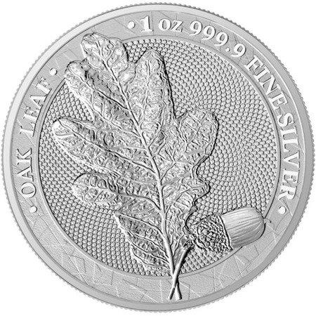 Srebrna Moneta Mythical Forest - Liść Dębu 1 uncja 24h