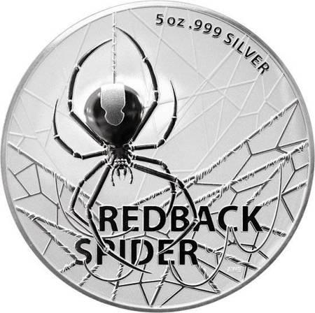 Srebrna Moneta Najniebezpieczniejsze Stworzenia Australii: Redback Spider 5 uncji 24h