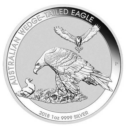 Srebrna Moneta Orzeł Australijski 1 uncja 2018r 24h