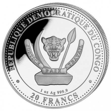 Srebrna Moneta Plezjozaur 1 uncja 24h