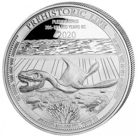 Srebrna Moneta Plezjozaur 1 uncja LIMITOWANA