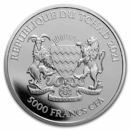 Srebrna Moneta Republic of Chad - Antylopa 1 uncja 24h