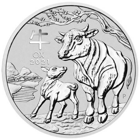 Srebrna Moneta Rok Bawoła 1000g (1kg) 24h