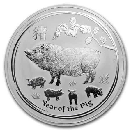 Srebrna Moneta Rok Świni 1000g (1kg) 24h