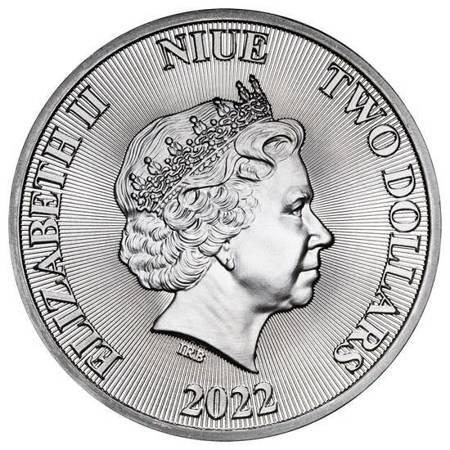 Srebrna Moneta Ryczący Lew 1 uncja 24h