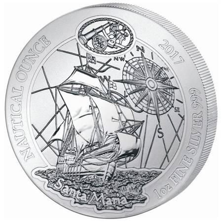 Srebrna Moneta Santa Maria - Nautical Ounce 1 uncja 2017r 24h