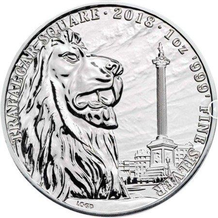 Srebrna Moneta Silver Landmarks Of Britain (Trafalgar Square) 1 uncja