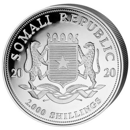 Srebrna Moneta Somalijski Słoń 1000g (1kg) 24h