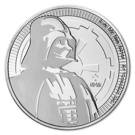 Srebrna Moneta Star Wars - Darth Vader 1 uncja 2017r 24h