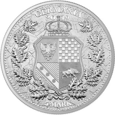 Srebrna Moneta The Allegories - Columbia & Germania 1 uncja 24h