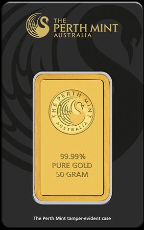 Sztabka Złota CertiCard 50g 24h