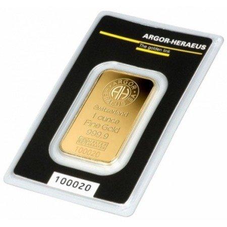 Sztabka Złota CertiPack 1 uncja