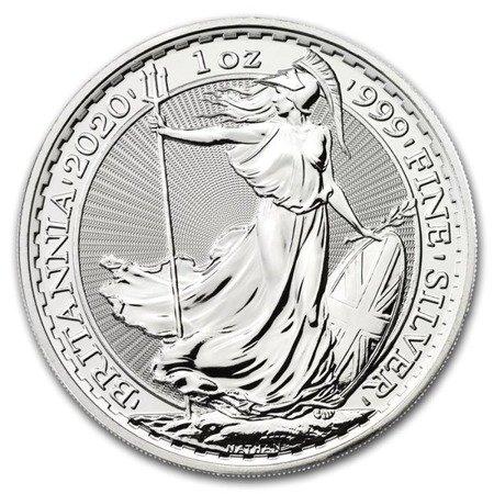 Zestaw Srebrna Moneta Britannia 500x1oz