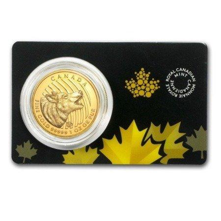Zew Natury Wilk Złota Moneta 1 uncja