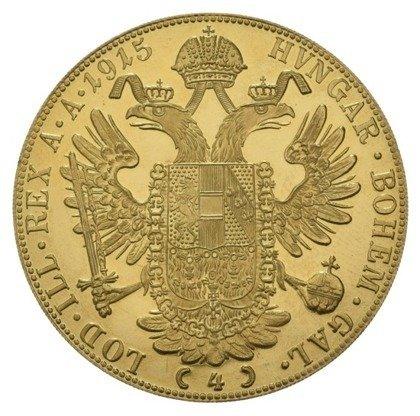 Złota Moneta 4 Dukaty Austriackie (Czworak) 13.96g