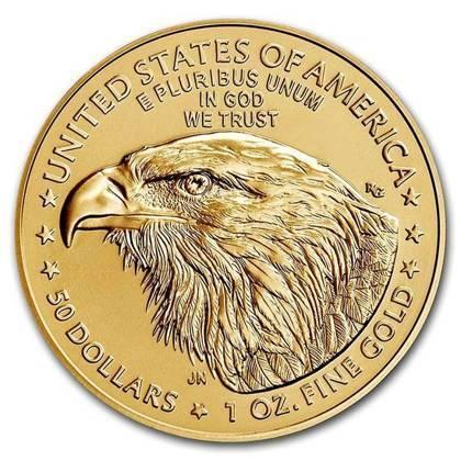 Złota Moneta Amerykański Orzeł - NOWY MOTYW 1 uncja 24h