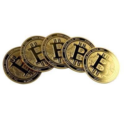 Złota Moneta Bitcoin 1 uncja 2021r LIMITOWANA