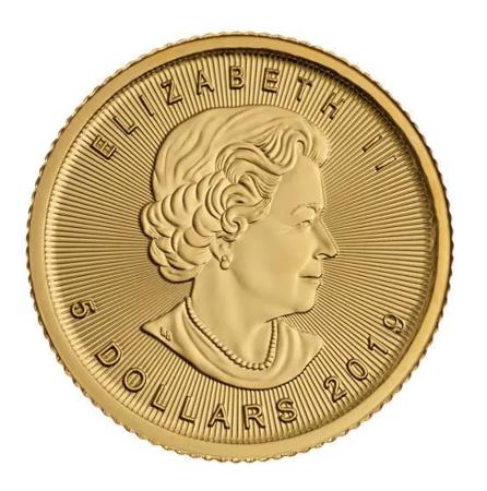 Złota Moneta Kanadyjski Liść Klonowy 1/10 uncji 24h