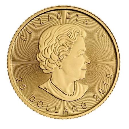 Złota Moneta Kanadyjski Liść Klonowy 1/2 uncji