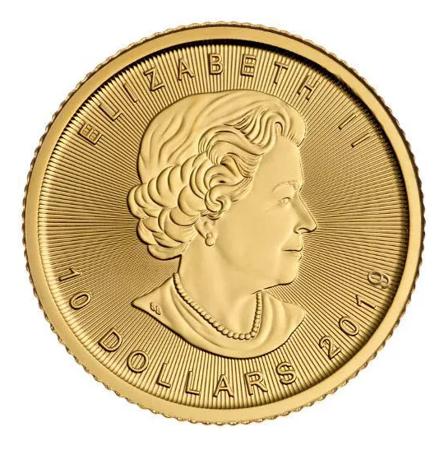 Złota Moneta Kanadyjski Liść Klonowy 1/4 uncji 24h