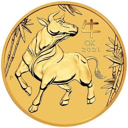 Złota Moneta Rok Bawoła 1/2 uncji 24h
