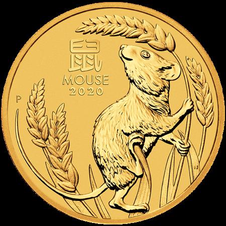 Złota Moneta Rok Myszy 1/2 uncji 24h