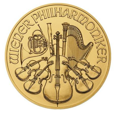 Złota Moneta Wiedeński Filharmonik 1 uncja